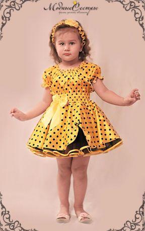 Платье для девочки из атласа своими руками 62