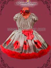 Платье Маки клетка 2в1